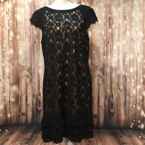 Jessica Simpson Lace Dress with Ruffle Size 14